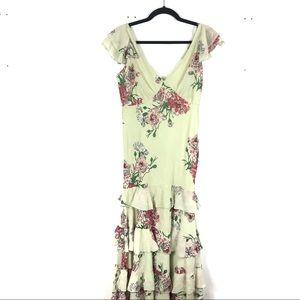 ASOS NWT green floral maxi dress H19